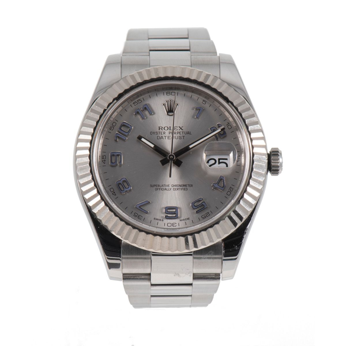 Rolex Datejust II 116334 Steel &Grey 41mm Mens Watch