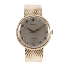 Load image into Gallery viewer, Rolex Precision Vintage 9ct Yellow Gold & Grey 33.5mm Mens Watch