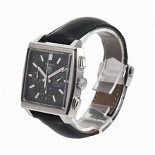 Load image into Gallery viewer, Tag Heuer Monaco CW2111 Black & Leather 38mm Mens Watch