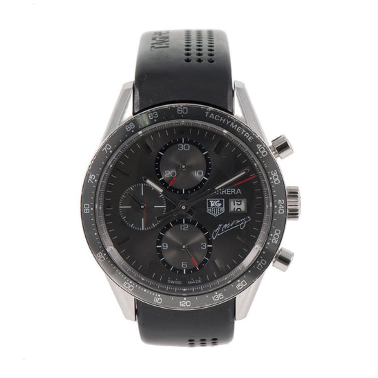 Tag Heuer Carrera Automatic Chronograph NZ4487 Grey Dial 41mm Mens Watch