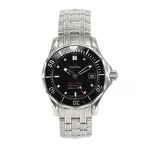 Load image into Gallery viewer, Omega Seamaster Quartz Stainless Steel Black 30mm Dial Ladies Watch