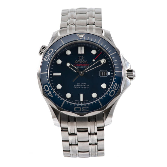 Omega Seamaster Steel and Blue 41mm Mens Watch
