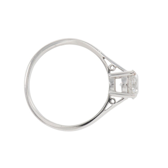 18ct White Gold 1.09ct Round Brilliant Cut Diamond Solitaire Ring Ladies Size P
