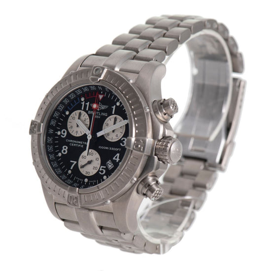 Breitling Chrono Avenger E73360 2003 Black Titanium 44mm Mens Watch