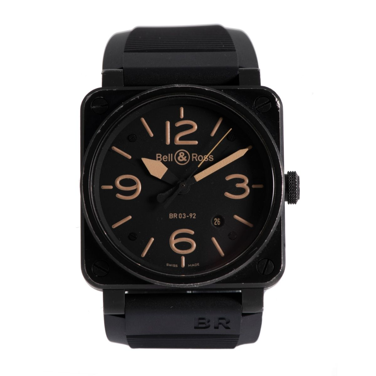 Bell & Ross BR03 BR03-92 Stainless Steel & Black 42mm Mens Watch