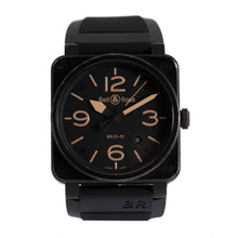 Load image into Gallery viewer, Bell & Ross BR03 BR03-92 Stainless Steel & Black 42mm Mens Watch