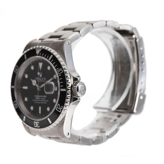 Rolex Submariner 16610 Steel & Black Mens Watch 40mm