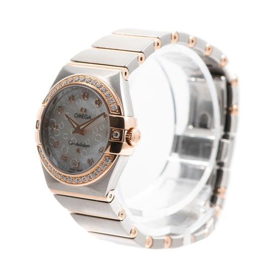 Omega Constellation Bi-Colour & Diamond Set Mother of Pearl 28mm Ladies Watch