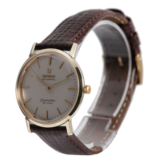 Omega Seamaster Gold Plated & Grey 31.5mm Mens Watch