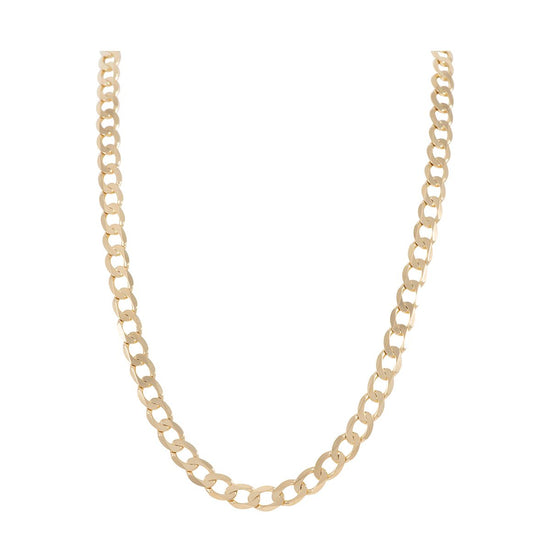 18ct Yellow Gold Curb Chain Ladies 18 inches