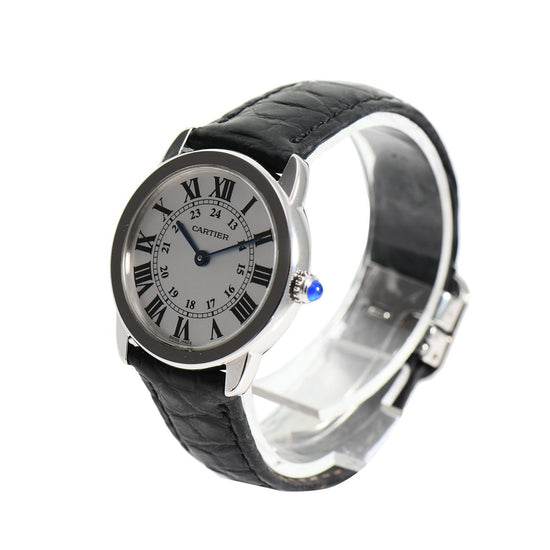 Cartier Ronde Solo 2933 29mm White Dial Mens Watch