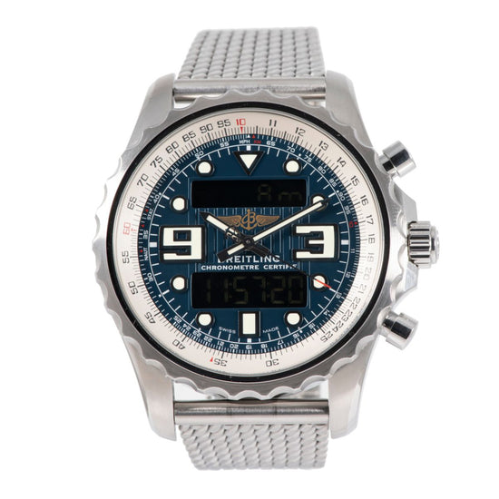Breitling Chronospace A78365 Steel & Blue 48mm Mens Watch