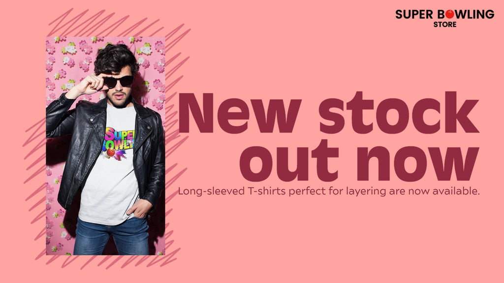 New stock out now. Long-sleeved T-shirts perfect for layering are now available.