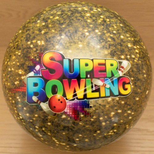 Golden Ball of gold flake featuring SUPER BOWLING - SUPER BOWLING STORE