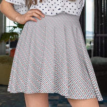 Load image into Gallery viewer, Skater Skirt - SUPER BOWLING STORE Logo White -