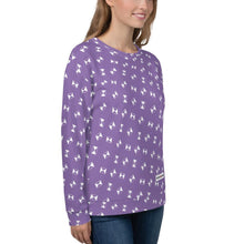 "Load image into Gallery viewer, Unisex Sweatshirt - Strike symbol scattered over Fuji-iro ""Japan Purple"" - - SUPER BOWLING STORE"