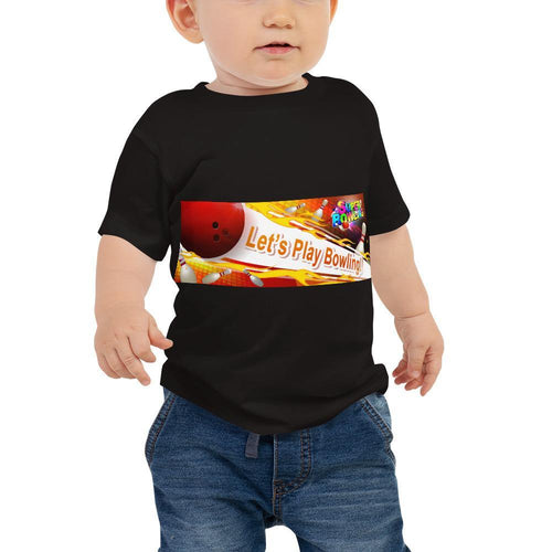 Baby Jersey Short Sleeve Tee - Let's Play Bowling - - SUPER BOWLING STORE