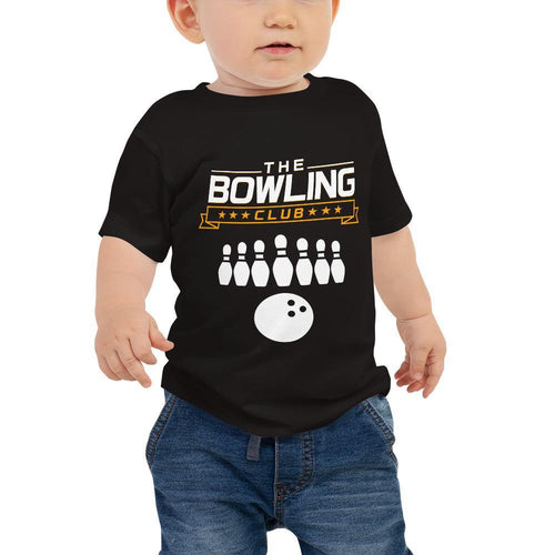 Baby Jersey Short Sleeve Tee - THE BOWLING CLUB Game Logo - - SUPER BOWLING STORE