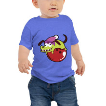 Load image into Gallery viewer, Baby Jersey Short Sleeve Tee - Skaty Dog on Bowling Ball - - SUPER BOWLING STORE