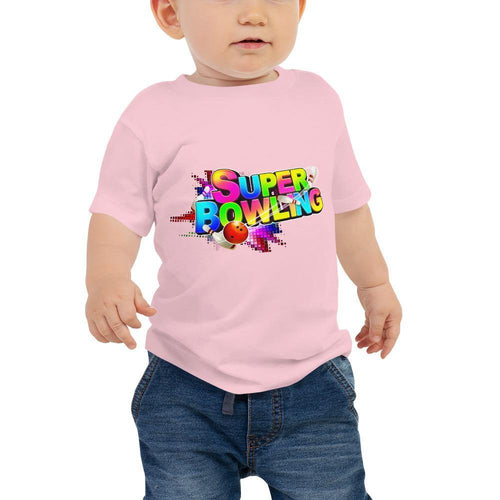 Baby Jersey Short Sleeve Tee - SUPER BOWLING Game Logo - - SUPER BOWLING STORE