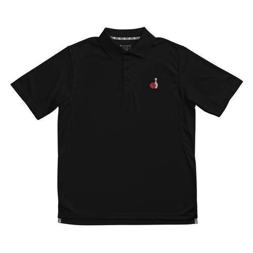 Bowling Ball & Pin Men's Champion performance polo - SUPER BOWLING STORE