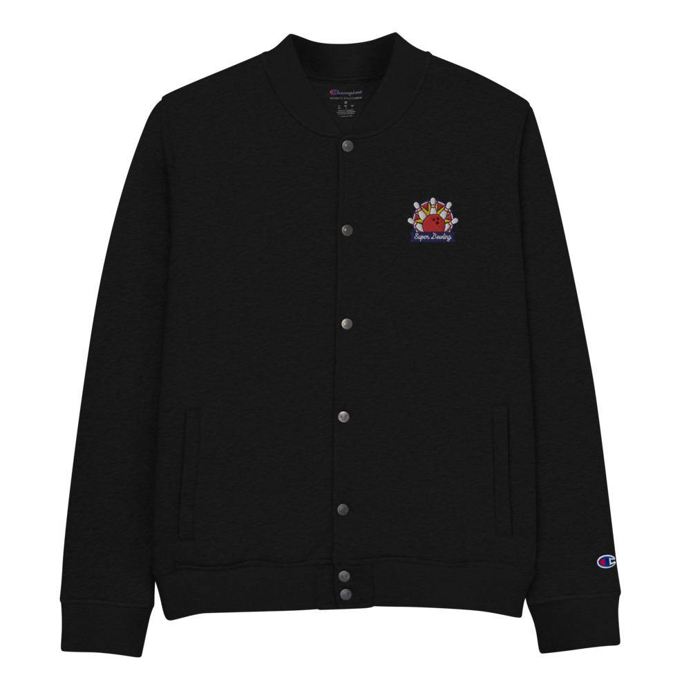 Classic SUPER BOWLING Embroidered Champion Bomber Jacket - SUPER BOWLING STORE