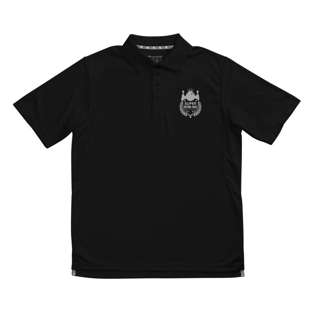 Super Bowling Embroidered Men's Champion performance polo - SUPER BOWLING STORE