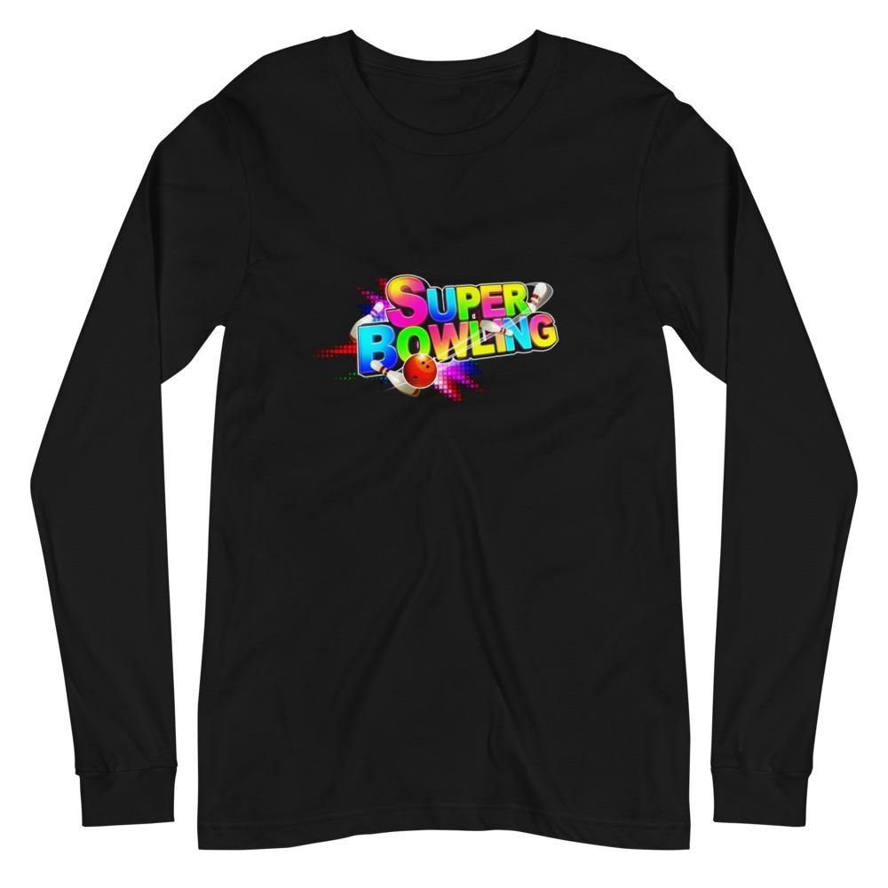 SUPER BOWLING Game Logo Unisex Long Sleeve Tee - SUPER BOWLING STORE