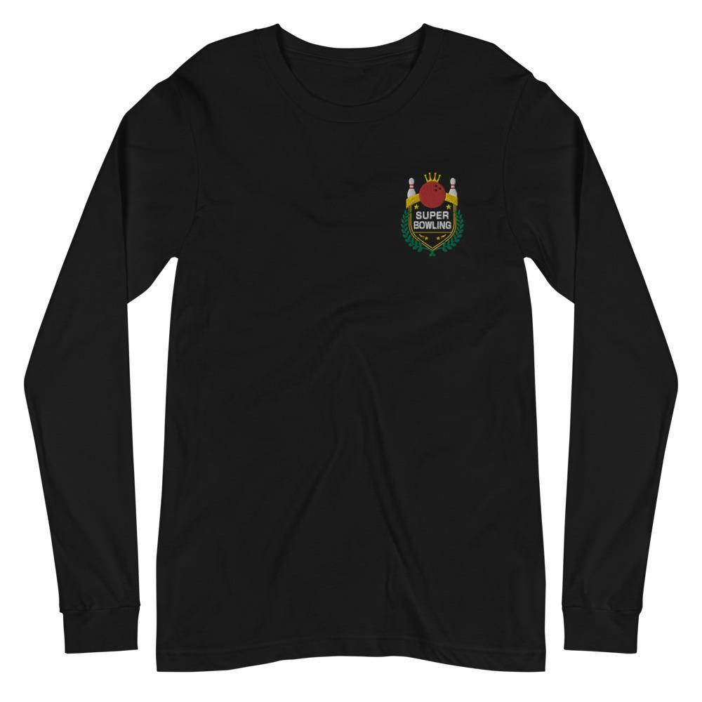 SUPER BOWLING Color-Embroidered Unisex Long Sleeve Tee - SUPER BOWLING STORE