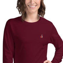 Load image into Gallery viewer, Bowling Ball & Pin Embroidered Unisex Long Sleeve Tee - SUPER BOWLING STORE