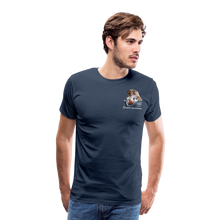 Lade das Bild in den Galerie-Viewer, Herren Premium T-Shirt, Bacon pfeift - Navy
