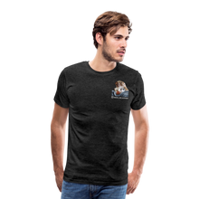Lade das Bild in den Galerie-Viewer, Herren Premium T-Shirt, Bacon pfeift - Anthrazit