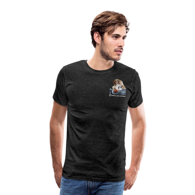 Herren Premium T-Shirt, Bacon pfeift - Anthrazit