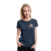 Lade das Bild in den Galerie-Viewer, Damen Premium T-Shirt, Bacon pfeift - Navy
