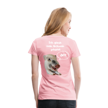 Lade das Bild in den Galerie-Viewer, Damen Premium T-Shirt, Bacon pfeift - Hellrosa