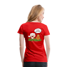 Lade das Bild in den Galerie-Viewer, Damen Premium T-Shirt, Er hat angefangen! - Rot