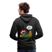 Load image into Gallery viewer, Herren Premium Hoodie, Er hat angefangen! Bacon - Schwarz