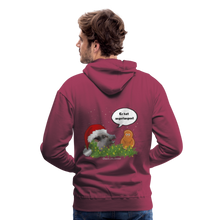 Load image into Gallery viewer, Herren Premium Hoodie, Er hat angefangen! Bacon - Bordeaux