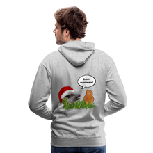 Load image into Gallery viewer, Herren Premium Hoodie, Er hat angefangen! Bacon - Grau meliert