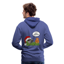 Load image into Gallery viewer, Herren Premium Hoodie, Er hat angefangen! Bacon - Königsblau