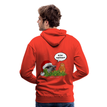 Load image into Gallery viewer, Herren Premium Hoodie, Er hat angefangen! Bacon - Rot