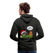 Load image into Gallery viewer, Herren Premium Hoodie, Er hat angefangen! Bacon - Anthrazit