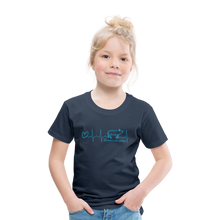 Lade das Bild in den Galerie-Viewer, Kinder Premium T-Shirt EKG - navy