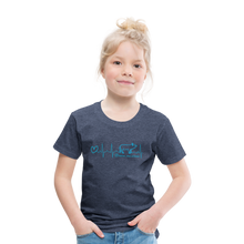 Lade das Bild in den Galerie-Viewer, Kinder Premium T-Shirt EKG - heather blue