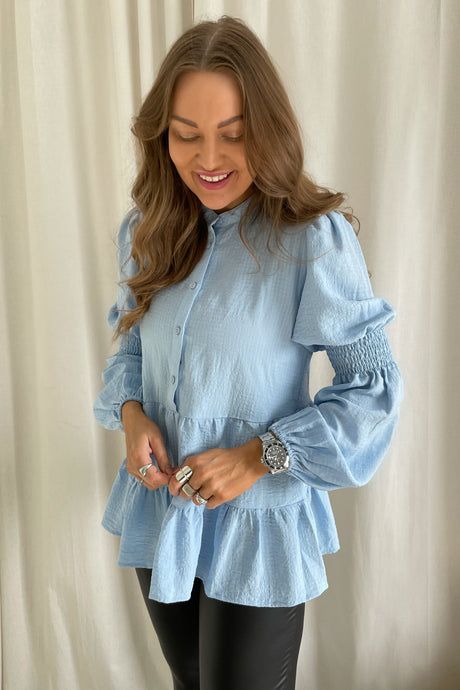Masti Long Sleeved Blouse - Light Blue