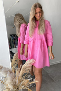 Ditte Shirtdress - Strawberry Pink