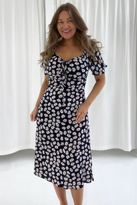 Lula Dress Long - Night Sky Blossom