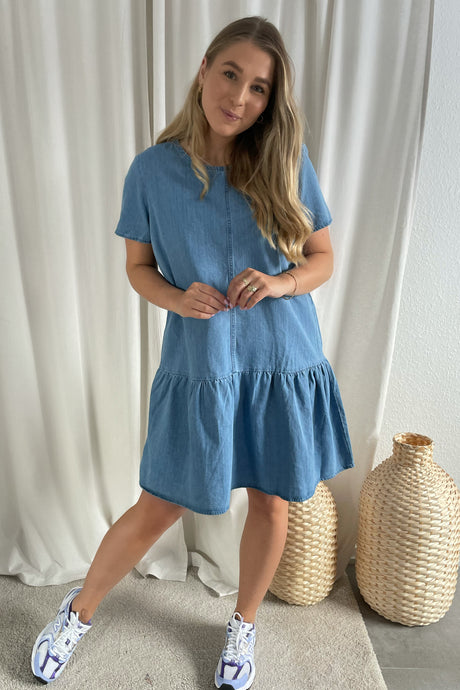 Emilia Dress - Medium Blue Denim