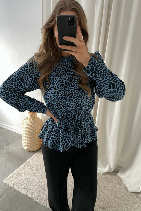 Trinne Long sleeved Blouse - Azur Blue