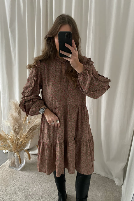 Mare L/S Oversize Dress - Fir Green